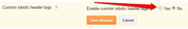 Enable Custom Robot Header Tags in Blogger