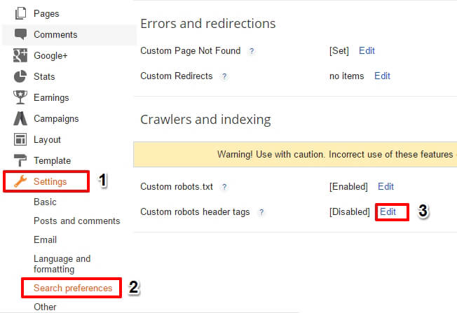 Best Setting of Custom Robot Header Tags for Blogger in Hindi