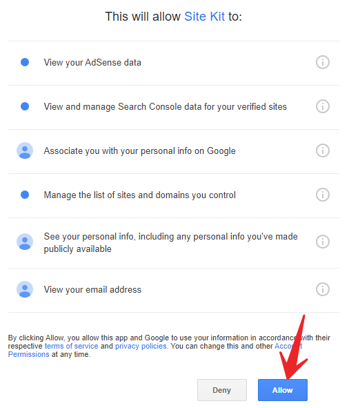 Click allow to continue1