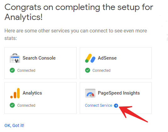 Connect PageSpeed Insight to Google Site Kit in WordPress