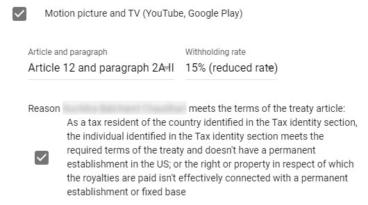 tax rate for youtube and google play apps